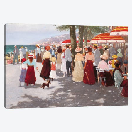 Street In The Old Days II Canvas Print #CVR12} by Carel van Rooijen Canvas Art Print