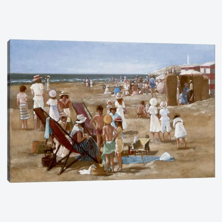 Beach Old Times I Canvas Print #CVR1} by Carel van Rooijen Canvas Artwork