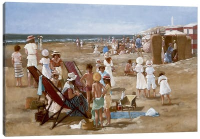 Beach Old Times I Canvas Art Print