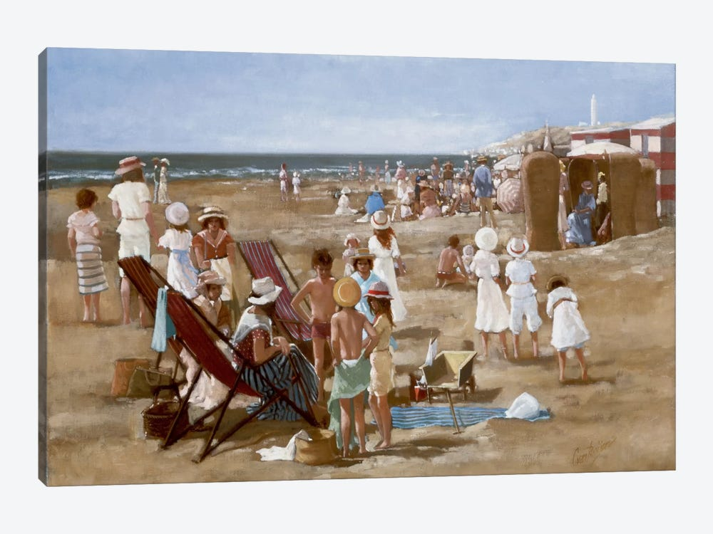 Beach Old Times I by Carel van Rooijen 1-piece Canvas Art Print