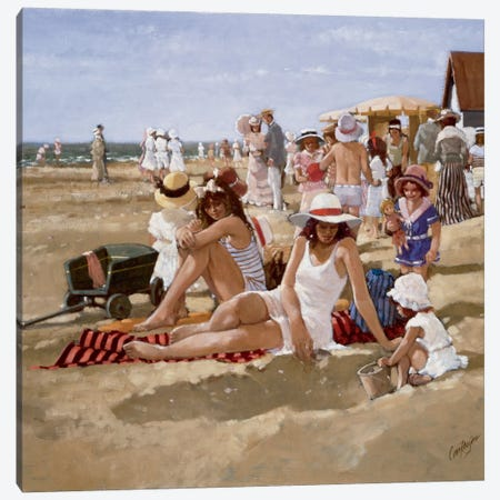 Beach Old Times II Canvas Print #CVR2} by Carel van Rooijen Canvas Artwork