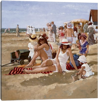 Beach Old Times II Canvas Art Print