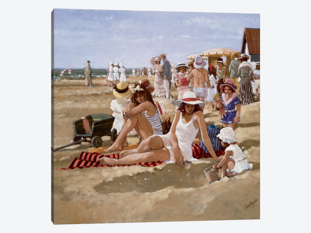 Beach Old Times II by Carel van Rooijen 1-piece Canvas Artwork