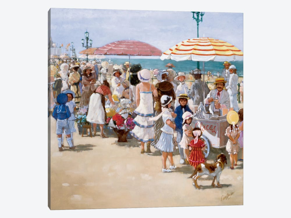 Beach Old Times III by Carel van Rooijen 1-piece Canvas Art Print