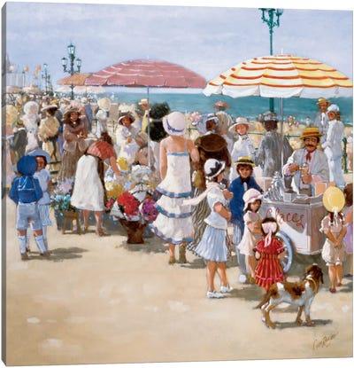 Beach Old Times III Canvas Art Print