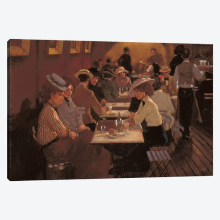 Old Bar Scene Canvas Print #CVR5} by Carel van Rooijen Canvas Art Print