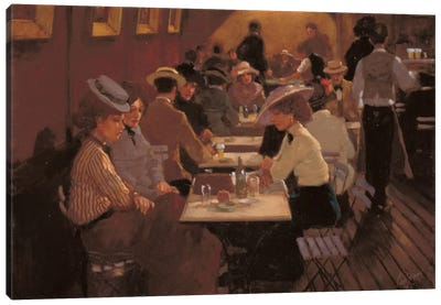 Old Bar Scene Canvas Art Print