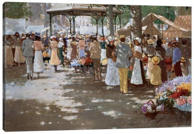 Old Marketplace I Canvas Art Print