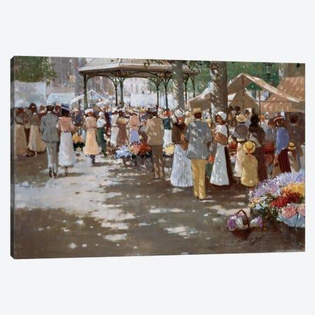 Old Marketplace I Canvas Print #CVR6} by Carel van Rooijen Art Print