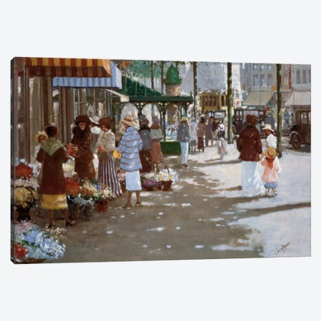 Old Marketplace II Canvas Print #CVR7} by Carel van Rooijen Art Print
