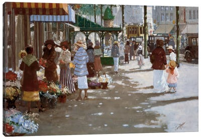 Old Marketplace II Canvas Art Print