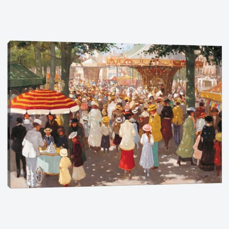 Old Marketplace III Canvas Print #CVR8} by Carel van Rooijen Canvas Wall Art