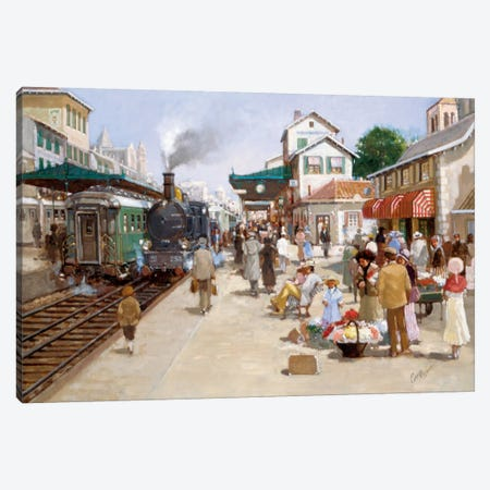Old Train Station I Canvas Print #CVR9} by Carel van Rooijen Canvas Wall Art