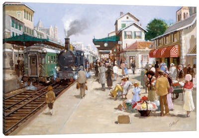 Old Train Station I Canvas Art Print
