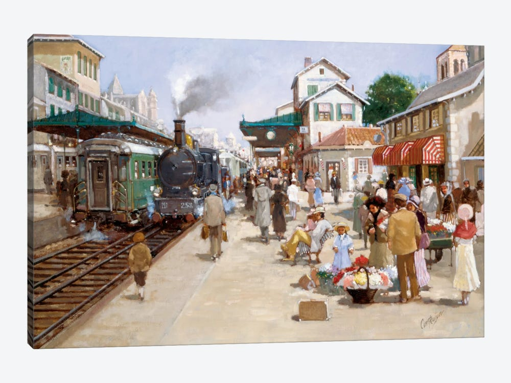 Old Train Station I by Carel van Rooijen 1-piece Canvas Art Print
