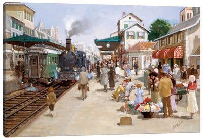 Old Train Station I Canvas Art Print