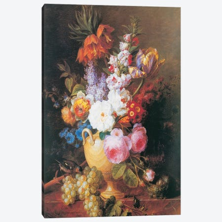 Vase de fleurs Canvas Print #CVS1} by Corneille Van Spaendonck Canvas Art Print