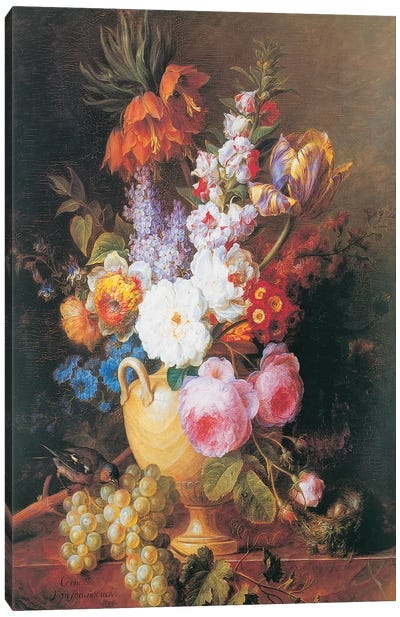 Vase de fleurs Canvas Art Print