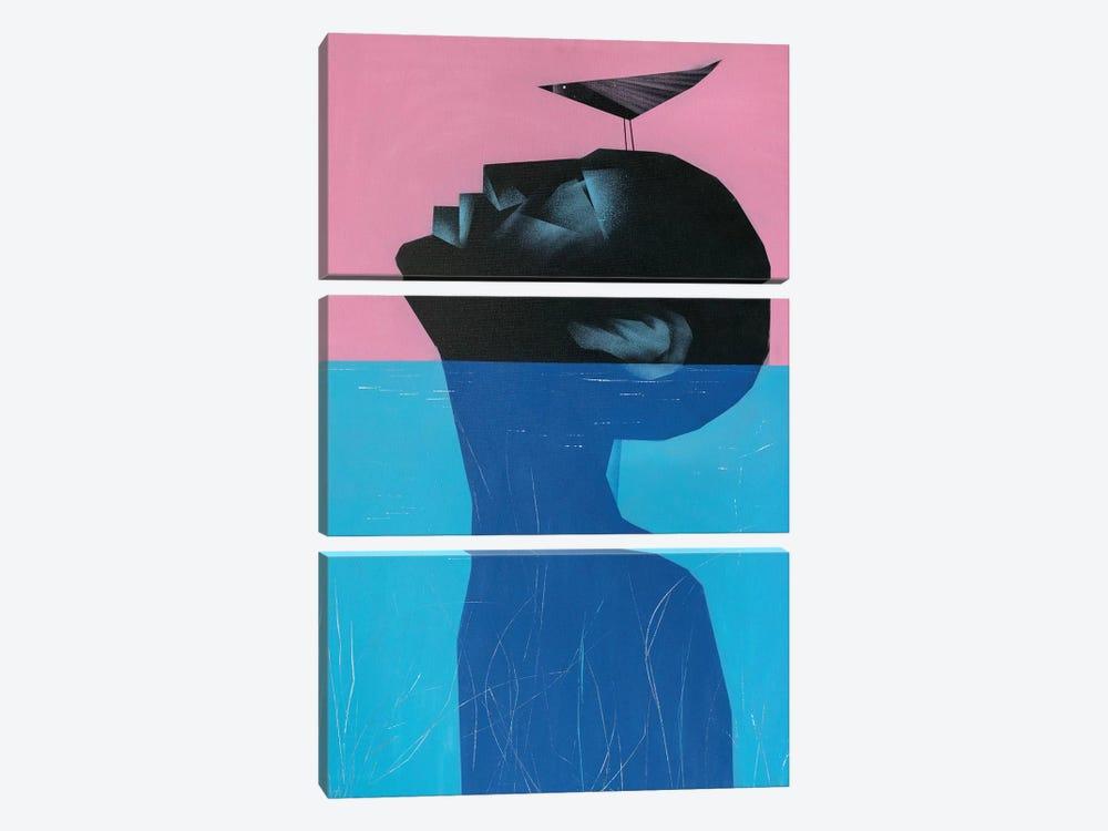 Drowning Voluntary II by VCalvento 3-piece Art Print