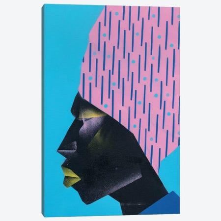 Pink Turban Canvas Print #CVT25} by VCalvento Canvas Art Print