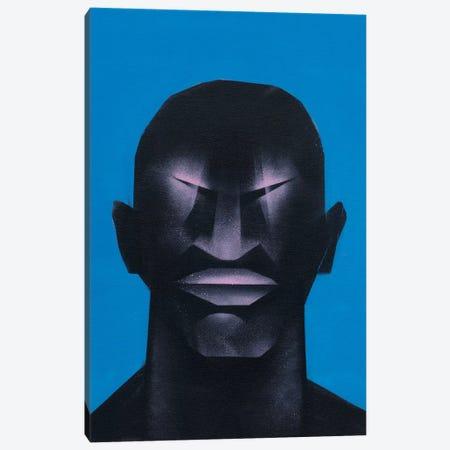 Portrait in Blue Canvas Print #CVT26} by VCalvento Art Print