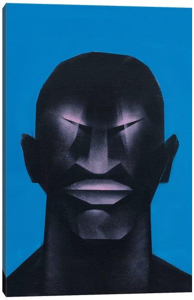 Portrait in Blue Canvas Art Print