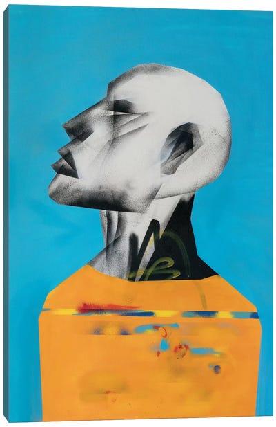 Yellow Portrait Canvas Art Print