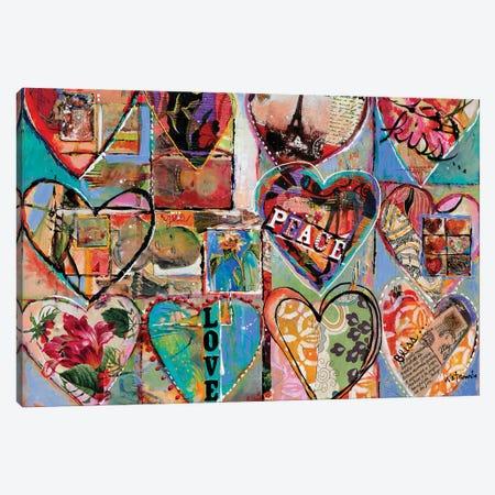 Joy Love Peace Canvas Print #CWB100} by Carole Rae Watanabe Canvas Art Print