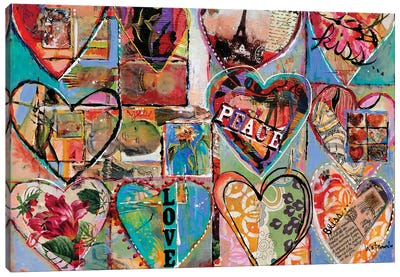 Joy Love Peace Canvas Art Print