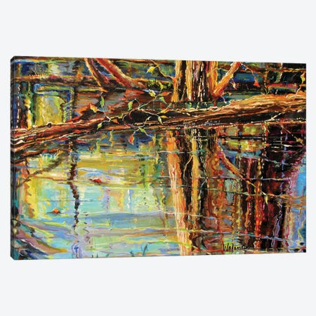 Reflecting Mystery Canvas Print #CWB15} by Carole Rae Watanabe Canvas Art Print