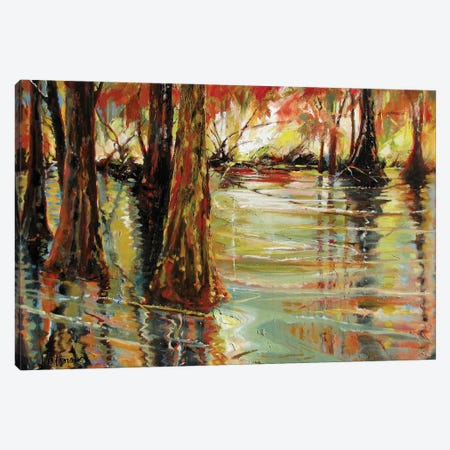 Ancient Reflections Canvas Print #CWB16} by Carole Rae Watanabe Art Print
