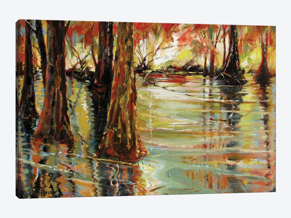 Ancient Reflections by Carole Rae Watanabe 1-piece Canvas Art Print