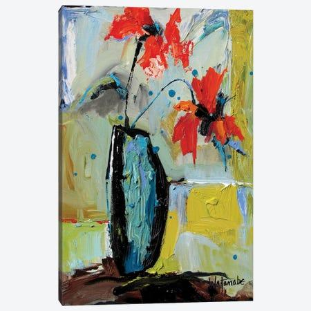 Juicy Flowers Canvas Print #CWB18} by Carole Rae Watanabe Canvas Wall Art