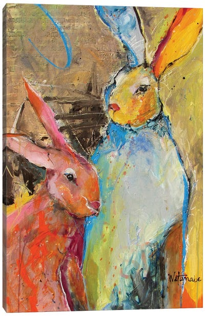 Harmonious Rabbits Canvas Art Print