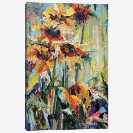 Sabines Jardin Canvas Print #CWB20} by Carole Rae Watanabe Canvas Art Print