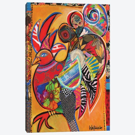 Doing The Jamaican Jerk Canvas Print #CWB28} by Carole Rae Watanabe Art Print