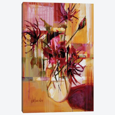Blooming Luminous Canvas Print #CWB29} by Carole Rae Watanabe Art Print