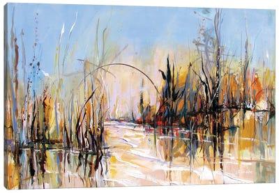 Winter Pond Canvas Art Print