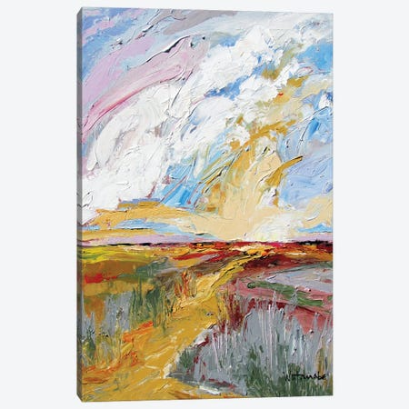 Streaming Light Canvas Print #CWB33} by Carole Rae Watanabe Canvas Wall Art