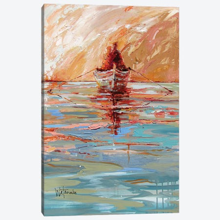 Traveling By The Light Canvas Print #CWB45} by Carole Rae Watanabe Canvas Artwork