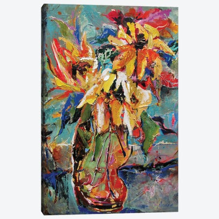 Faithful Flowers Canvas Print #CWB5} by Carole Rae Watanabe Canvas Art Print