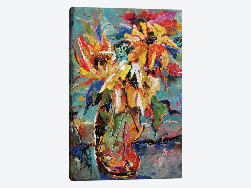Faithful Flowers by Carole Rae Watanabe 1-piece Canvas Artwork