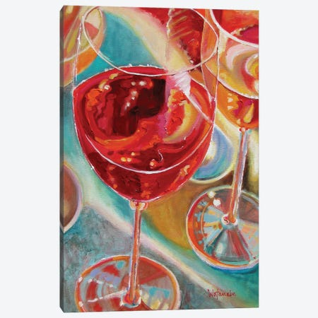 Spring Wine Canvas Print #CWB64} by Carole Rae Watanabe Canvas Wall Art