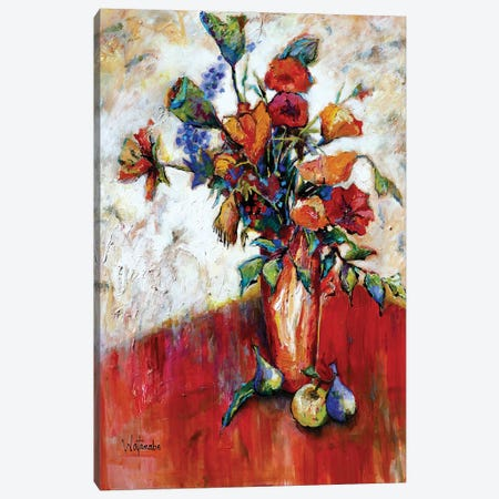 Deanna'S Bouquet Canvas Print #CWB65} by Carole Rae Watanabe Canvas Wall Art