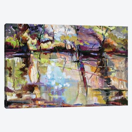 Pond Envy Canvas Print #CWB69} by Carole Rae Watanabe Canvas Art Print