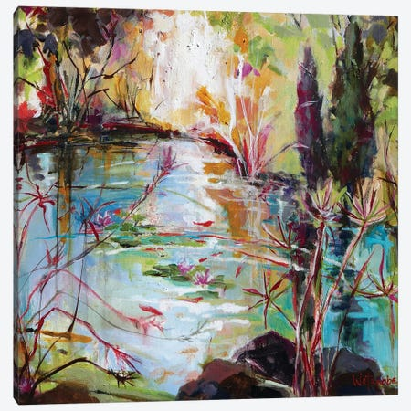 Reflecting On Recovery Canvas Print #CWB72} by Carole Rae Watanabe Canvas Artwork