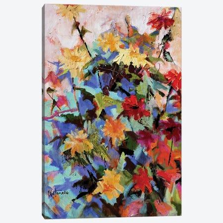 Zinnia Mania Canvas Print #CWB80} by Carole Rae Watanabe Canvas Art Print