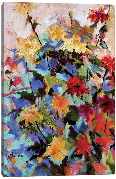 Zinnia Mania Canvas Art Print