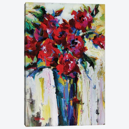 The Spirit Of Red Canvas Print #CWB8} by Carole Rae Watanabe Canvas Art