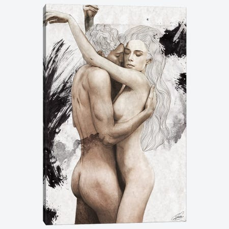 Embrace Canvas Print #CWD21} by Caroline Wendelin Art Print